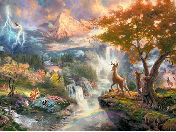 bambi's first year by thomas kinkade