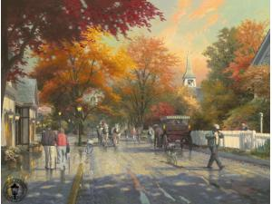 Autumn on Mackinac Island Painting by Thomas Kinkade