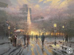 Thomas Kinkade Boston Celebration Painting Limited Edition Canvas