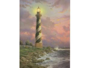 Cape Hatteras Light Painting by Thomas Kinkade
