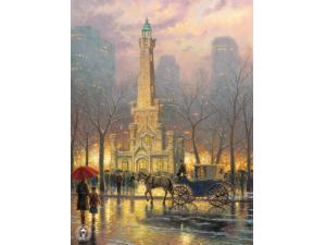 Chicago Winter at the Water Tower Painting by Thomas Kinkade