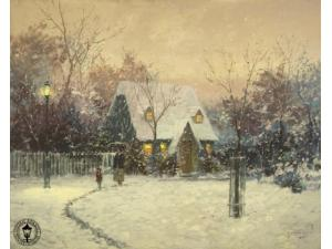 Thomas Kinkade's Winter's Cottage