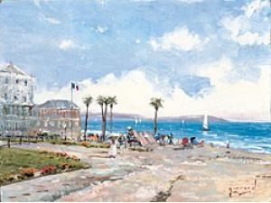 Thomas Kinkade/Robert Girrard Morning at Nice