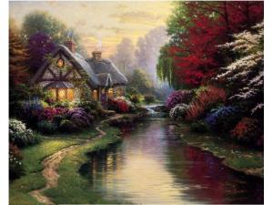 Thomas Kinkade A Quiet Evening Painting LImited Edition Canvas