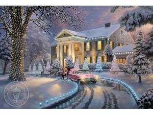 Graceland Christmas Painting by Thomas Kinkade