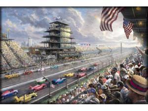 Thomas Kinkade Indy Excitement Painting Limited Edition Canvas