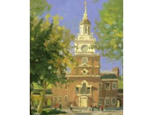 Liberty Plaza Philadelphia Painting by Thomas Kinkade