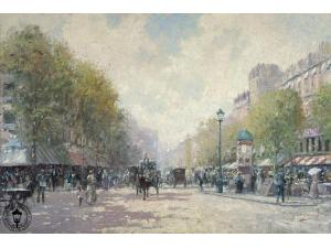 Thomas Kinkade Morning on the Boulevard