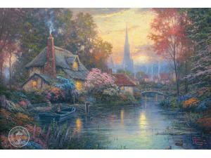 Nanette's Cottage - Painting by Thomas Kinkade