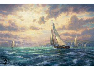 New Horizons Painting by Thomas Kinkade