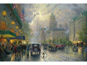 New York Fifth Avenue Painting by Thomas Kinkade