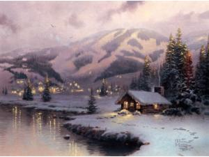 Olympic Mountain Evening Canvas Classic 9
