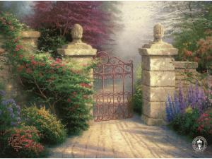 Open Gate Painting by Thomas Kinkade