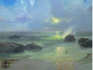 Pacific Nocturne Painting by Thomas Kinkade