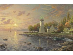 Serenity Cove Painting by Thomas Kinkade