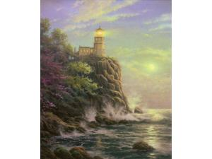 Split Rock Light Painting by Thomas Kinkade