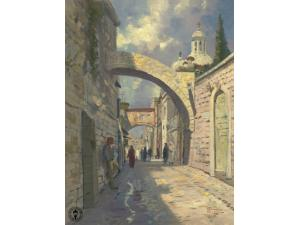 Via Dolorosa Painting by Thomas Kinkade