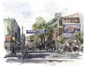 Thomas Kinkade Yawkey Way Painting: Limited Edition Canvas