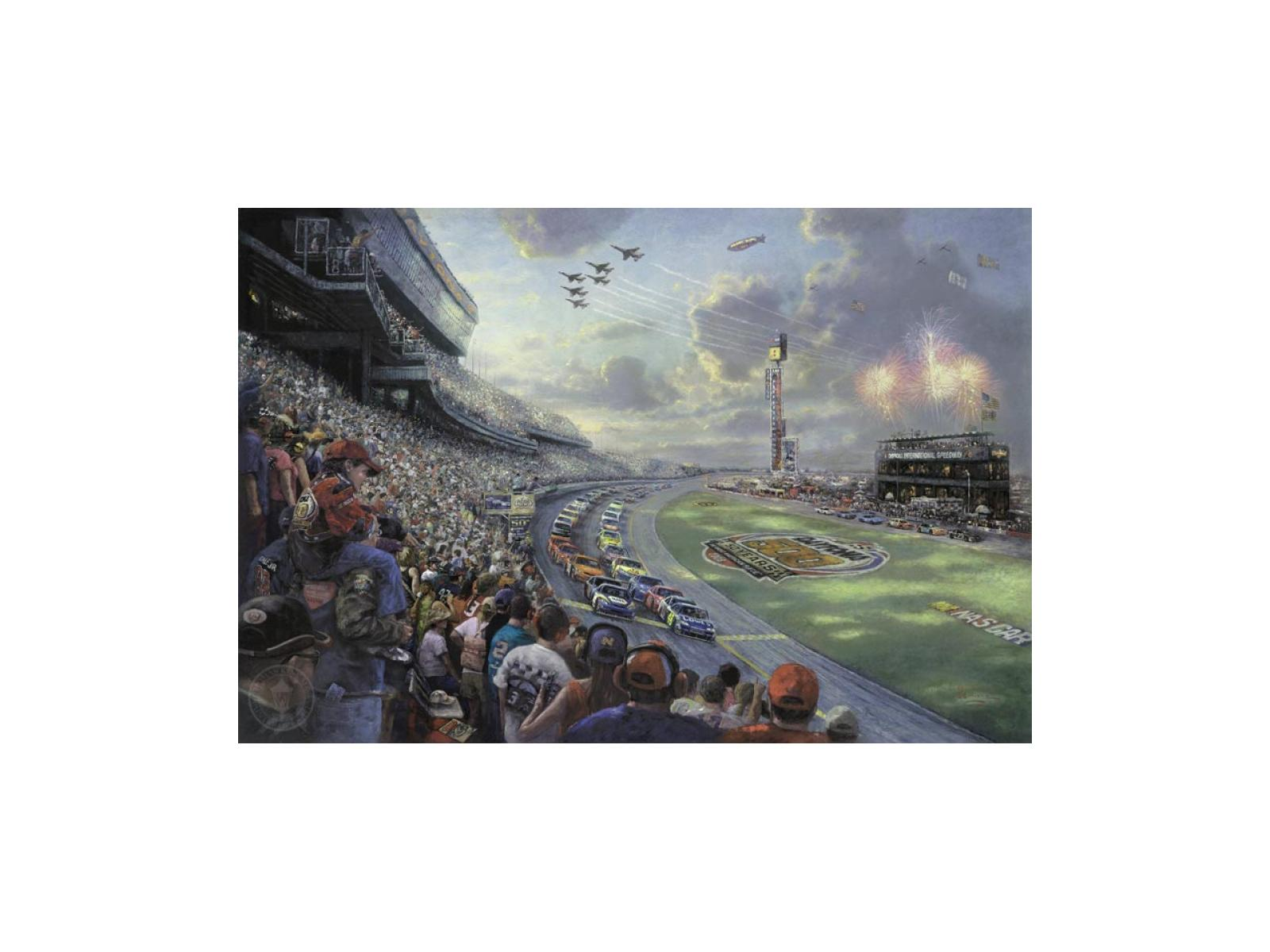 Thomas Kinkade/'s NASCAR Thunder Night Light