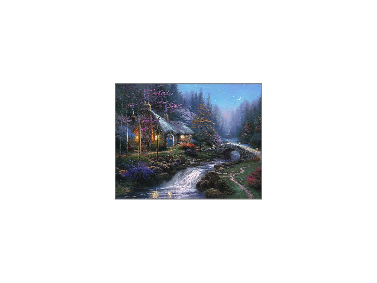 Amazing Framed Canvas Classics Twilight Cottage Classic 8X10 Non Home Interior And Landscaping Ologienasavecom