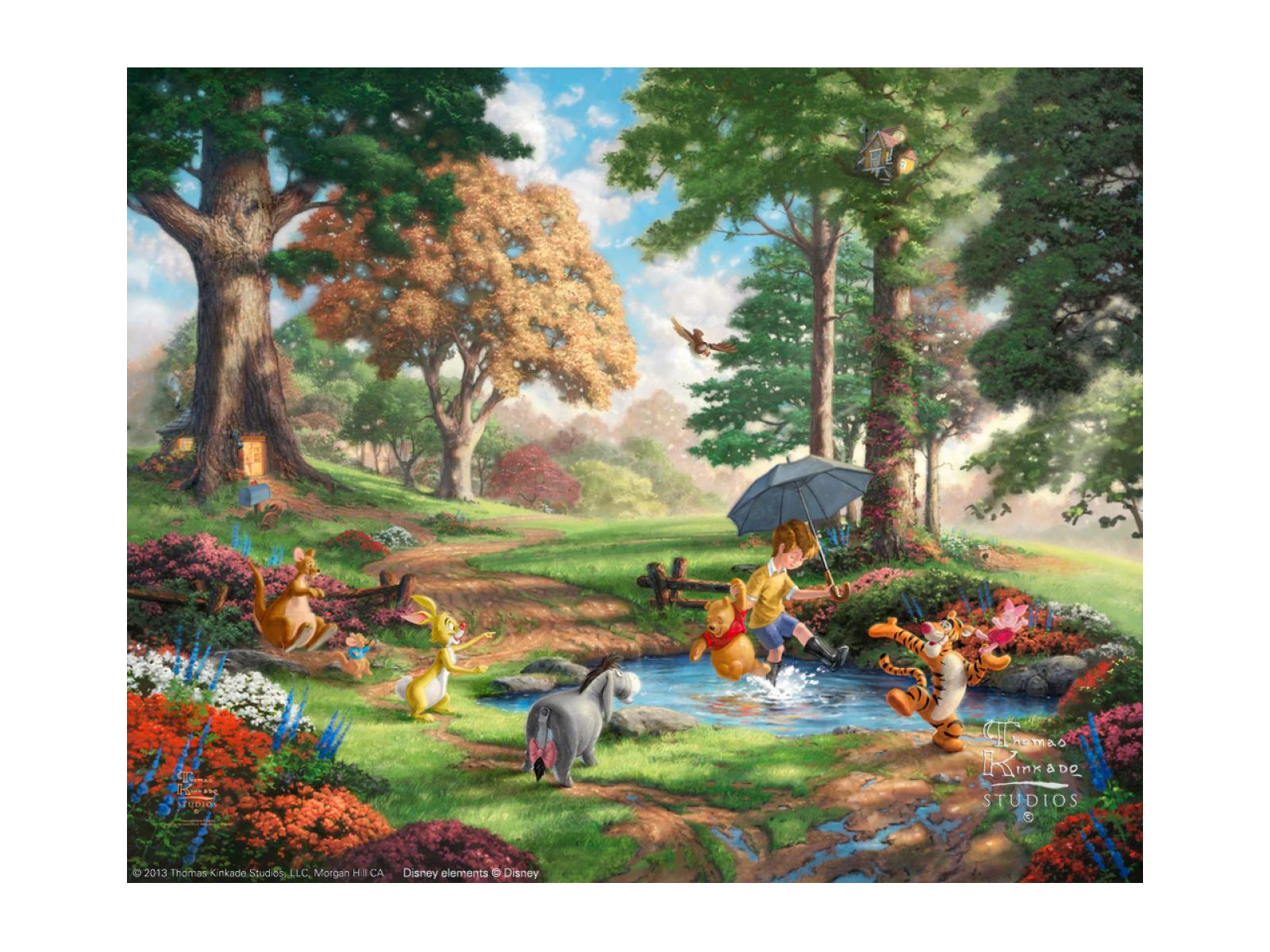 Disney Classics 375 Winnie The Pooh I 12x16 Framed Canvas Classic